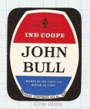 ENGLAND (UK) - Ind Coope Lim Burton-On-Trent - JOHN BULL - beer label