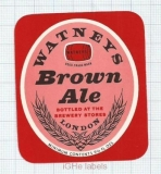 ENGLAND (UK) - Watney Mann Ltd London - BROWN ALE - beer label