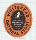 ENGLAND (UK) - Whitbread & Co LTD London - OATMEAL STOUT - beer label