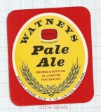 ENGLAND (UK) - Watney Combe Reid London - PALE ALE - beer label
