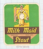 ENGLAND (UK) - Warwicks & Richardsons Ltd - MILK MAID STOUT woman - beer label