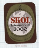 ENGLAND (UK) - Ind Coope Lim Burton-On-Trent - SKOL 2000 - beer label