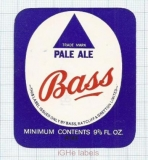 ENGLAND (UK) - Bass Charrington - PALE ALE - beer label