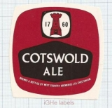 ENGLAND (UK) - West Country Brew Cheltenham - COTSWOLD ALE - beer label