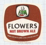 ENGLAND (UK) - Flowers Luton Stratford-Upon-Avon - NUT BROWN ALE - beer label