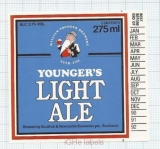 SCOTLAND (UK) - Scottish & Newcastle Edinburgh - LIGHT ALE -beer label