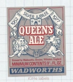 ENGLAND (UK) - Wadworths Wiltshire - QUEENS ALE Lion -beer label