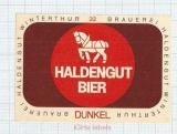 SWISS - Haldengut Winterthur - DUNKEL - beer label