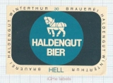 SWISS - Haldengut Winterthur - HELL - beer label