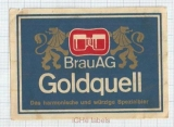 AUSTRIA - BrauAG - GOLDQUELL - beer label
