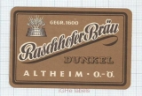 AUSTRIA - Altheim - Raschhofer Bräu - beer label