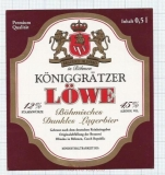 CZECH REPUBLIC - Hlinsko - Koninggratzer LOWE lion - beer label