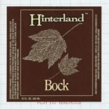 US - Hinterland Brew Green Bay, WI - BOCK - beer label