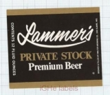 US - Walter Brew Co Eau Claire, Wi - LAMMER'S Private Stock - beer label