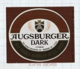 US - Jos.Huber Brew Co Monroe WI - AUGSBURGER DARK - beer label