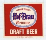 US - Maier Brew Co Los Angeles CA - HOF BRAU Genuine - beer label