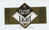 US - Heileman Brew Co, La Crosse WI - CLASSIC DRAFT LIGHT - beer label