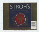 US - The Stroh Brew Co Detroit, MI - STROH'S - beer label