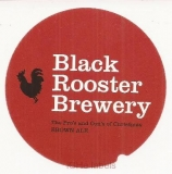 DENMARK - Micro,Black Rooster Brewery Frederikssund - BROWN ALE - beer label