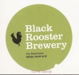 DENMARK - Micro,Black Rooster Brewery Frederikssund - INDIA PALE ALE- beer label