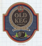 POLAND - Głubczyce - OLD KEG STRONG - beer label