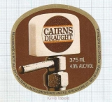 AUSTRALIA - Carlton & United Brew Melbourne - CAIRNS DRAUGHT- beer label