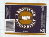 AUSTRALIA - Carlton & United Brew Southbank -ABBOTSFORD Invalid Stout-beer label