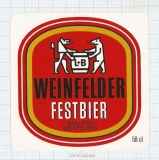 SWISS - Weinfelden - FESTBIER - beer label