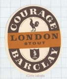 ENGLAND (UK) - Courage & Barclay London - STOUT - beer label