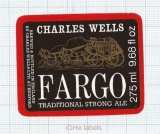 ENGLAND (UK) - Charles Wells LTD Bedford - FARGO - beer label
