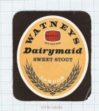 ENGLAND (UK) - Watney Mann Ltd Lonon - DAIRY MAID Sweet Stout - beer label