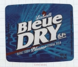 CANADA - Labatt - BLUE DRY - beer label