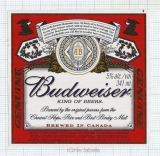 CANADA - Labatt Brewing London - BUDWEISER - beer label