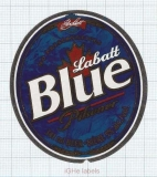 CANADA - Labatt Brewing London - BLUE PILSNER - beer label