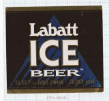 CANADA - Labatt - ICE BEER - beer label