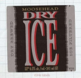 CANADA - Moosehead Brewery Saint John - DRY ICE - beer label
