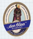 DENMARK - Lolland Falsters Bryghus - DEN BLAA Nykobing - sexy woman - beer label