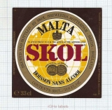 HOLLAND - Skol Breweries - MALTA SKOL - beer label