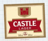 SOUTH AFRICA - CASTLE Lager - Beer label