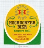 SWISS - Brauerei Hochdorf AG - EXPORT HELL - beer label