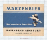 GERMANY - Hasenbräu Augsburg - Märzenbier - beer label