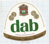 GERMANY - DAB Dortmund - III - beer label