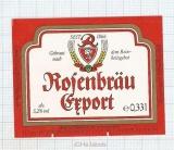 GERMANY - Rosenbrauerei Pößneck - EXPORT - beer label