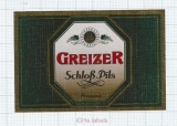 GERMANY - Vereinsbrauerei Greiz - SCHLOSS PILS - beer label