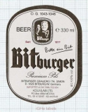 GERMANY - Brauerei Th. Simon Bitburg - PREMIUM PILS - beer label