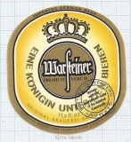 GERMANY - Warsteiner Brauerei Warstein - beer label