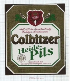 GERMANY - Heidebrauerei Colbitz - HEIDE Pils - beer label
