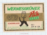 GERMANY - Brauerei Wernesgruner - PILS - beer label