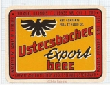 GERMANY - Adolf Schmid Usterbach - EXPORT BERE - beer label