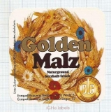 GERMANY - Erzquell Brauerei - GOLDEN MALZ - beer label